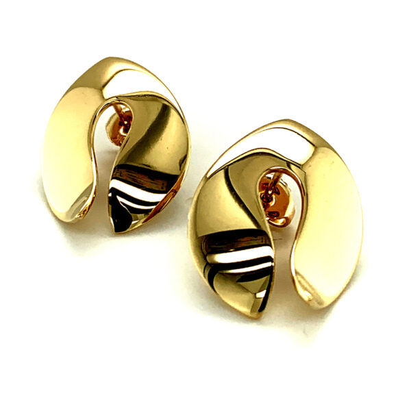 Contemporary Gold Earrings