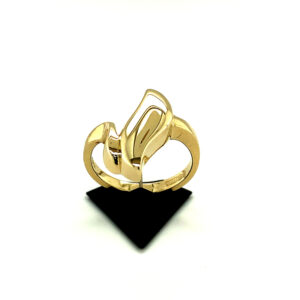 Leafy Hollow Gold Ring