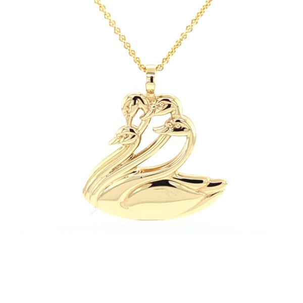 Gold Children of Lir Pendant