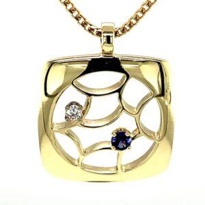 'Web Pendant' Sapphire and Diamond