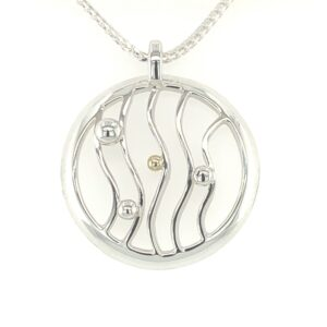 Wave in Circle Pendant Large