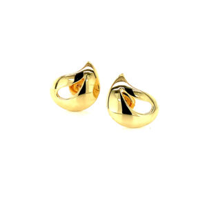 Contemporary Stud Earrings - Gold